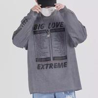 【STREET】BIG LOVEデザインビックサイズトレーナー【PR00769】