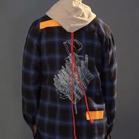 【大人気】ローズハンドデザインシャツ 2カラー