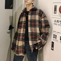 チェックデザインビックジャケット【LA00281】
