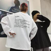 【売れ筋】INDデザインロングTシャツ【RW00949】
