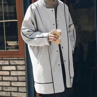 【売れ筋】ラインデザインロングジャケット【LA00798】