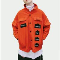 【COOL】CRYINGデザインジャケット 2カラー