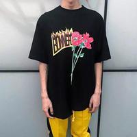 【STREET】バイカラーバイデザインTシャツ 2カラー
