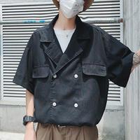 【COOL】特殊パターンデザインシャツ 2カラー