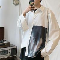 【トレンド】ブラックアートデザインシャツ