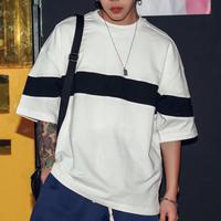【新商品】ワイドラインデザインビックサイズTシャツ