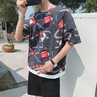 【HOT】ドリンク缶デザインTシャツ 2カラー