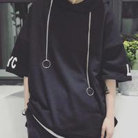 [HOT]ロングリングデザインTシャツ 2カラー