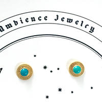 Sun moon studs Pierce / Tourqouise
