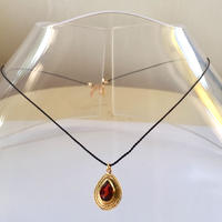1stone silk code/ garnet tear drop / Black code