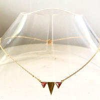 January birthstone/ Garnet/ triangle necklace
