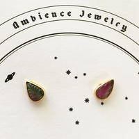 Tourmaline pierce / Hand cut leaves