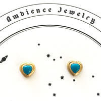 Open your heart Pierce / dark blue Tourqouise