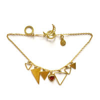 January birth stone / Garnet / triangle bracelate