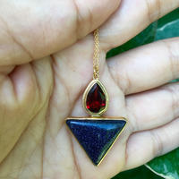 Triangle and tear drop pendant