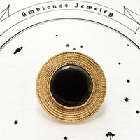 Pin broach / Rainbow obsidian