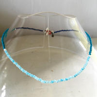 Stone beads necklace / Blue