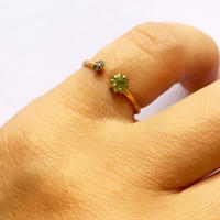 Peridot Star Ring