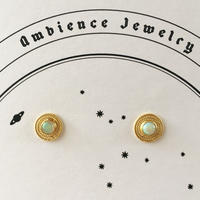 Sun moon studs Pierce / Opal