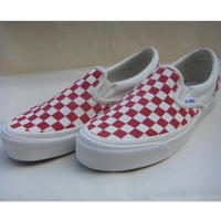 OG Classic Slip-On LX (Checkerboard) Red -VANS VAULT LINE-