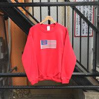 AMERICAN FLAG BOX CREW NECK SWEAT  -PATCH-/ ANEX ORIGINALS