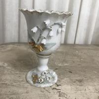 陶器すずらん足つきカップ