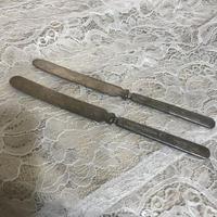 シルバープレート ナイフ2本セット