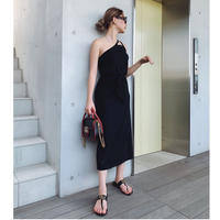 ONE SHOULDER ONE PIECE BLACK
