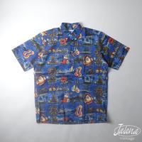 デッドストック 90年代レインスプーナー/reyn spooner アロハシャツSサイズ(A-081)