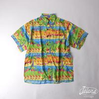 ディズニーコラボ レインスプーナー/reyn spooner アロハシャツ Sサイズ(A-018)