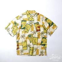 80年代~90年代初期レインスプーナー/reyn spooner アロハシャツ XSサイズ(A-191)