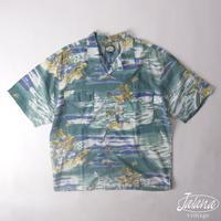 90年代 トミーバハマ/Tommy Bahama アロハシャツLサイズ(A-049)