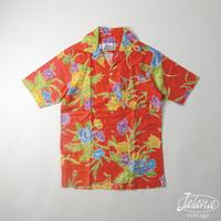 ヒロハッティー/Hilo Hattie アロハシャツSサイズ(A-091)
