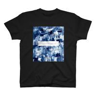 「巡る」Tシャツ / 012 (藍/black)