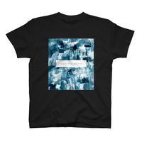 「巡る」Tシャツ / 010 (緑/black)