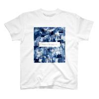 「巡る」Tシャツ / 011 (藍/white)