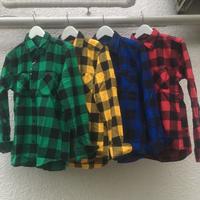 定番のブロックチェックシャツ 4色