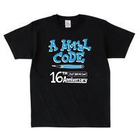 先行予約 16周年AMORALCODE @hugo Tシャツ ブラック