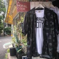 レーヨンネオン柄アロハシャツ