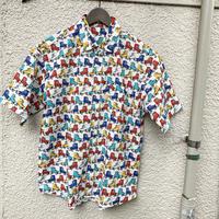 ローラースケート柄オーバーサイズプリントシャツ
