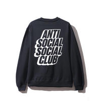 ANTI SOCIAL SOCIAL CLUB BLOCKED LOGO CREWNECK / BLACK