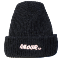 AMOUR / PINK AMOUR KNIT CAP