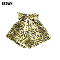 AMOUR GIRLS / LEOPARD HIGH WAIST SHORT PANTS