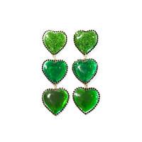 BOHOUNIVERSE JEWERLY / CANDY HEART EARINGS - GREEN -