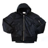 AMOUR ORIGINALS  HOODED MA-1 / BLACK
