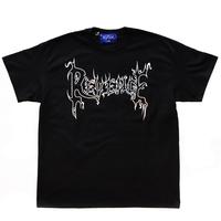 "REVENGE  ""VENGEANCE"" Metallic Print Black Tee"
