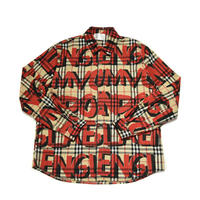 AMOUR / PAINTED CHECK SHIRT / RED