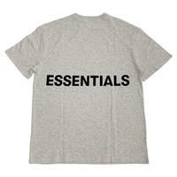ESSENTIALS / BOXY LOGO T-SHIRT - GRAY -