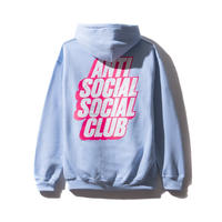 ANTI SOCIAL SOCIAL CLUB BLOCKED LOGO HOODIE / BLUE