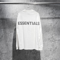 ESSENTIALS / REFLECTIVE LOGO LS TEE